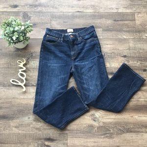 J Crew Billie Demi Boot Crop Jeans